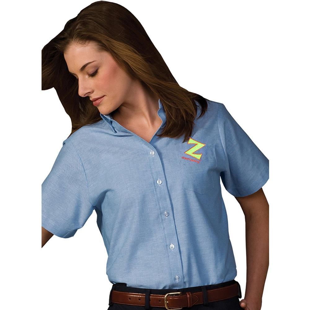Edw 5027 Women S Oxford Short Sleeved Blue Z Park